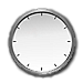 Analog clock displaying New York time